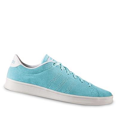 adidas Damen Advantage Clean Qt W Sneaker Low Hals, Blau