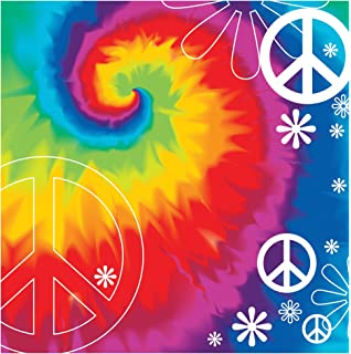 creative converting tie dye fun 18 count 2 ply paper lunch napkins