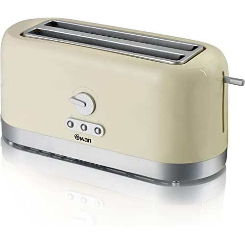 Swan 4 Slice Long Slot Cream Toaster