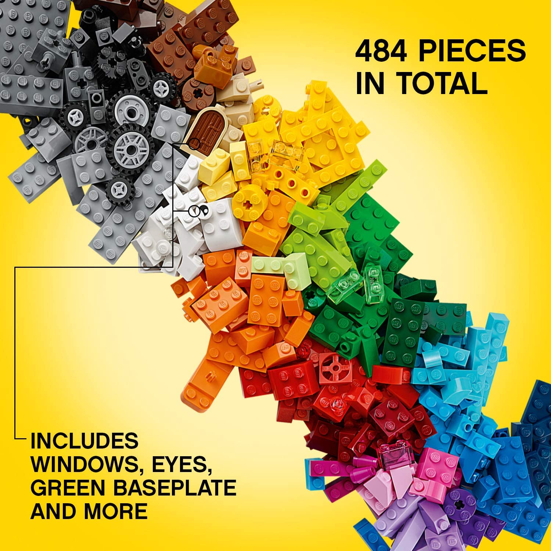 LEGO Classic Medium Creative Brick Box 10696 Building Toys for Creative Play; Kids Creative Kit (484 Pieces): Toys & Games