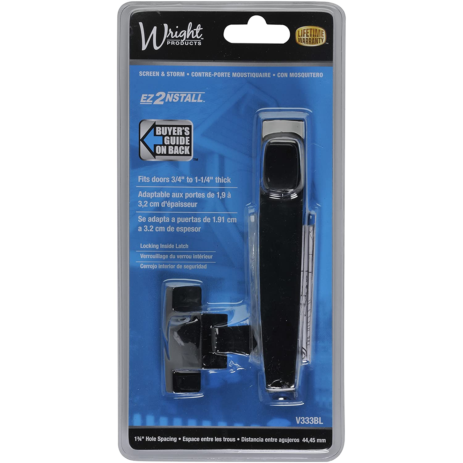 Wright Products V333BL TIE DOWN PUSH BUTTON Handle, BLACK   Screen Door  Hardware   Amazon.com