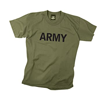 Amazon.com: Rothco Kids T-Shirt/Army - Olive Drab: Sports & Outdoors