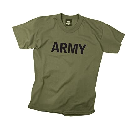 Amazon.com  Rothco Kids T-Shirt Marines - Olive Drab  Sports   Outdoors 454afdec9ab