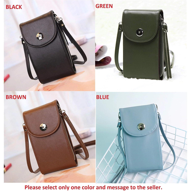 f201fe669c Design Women Handbags Korean Mini Bag Cell Phone Bags Simple Small  Crossbody Bags Casual Ladies Flap Shoulder Bag Green (VER)  Handbags   Amazon.com
