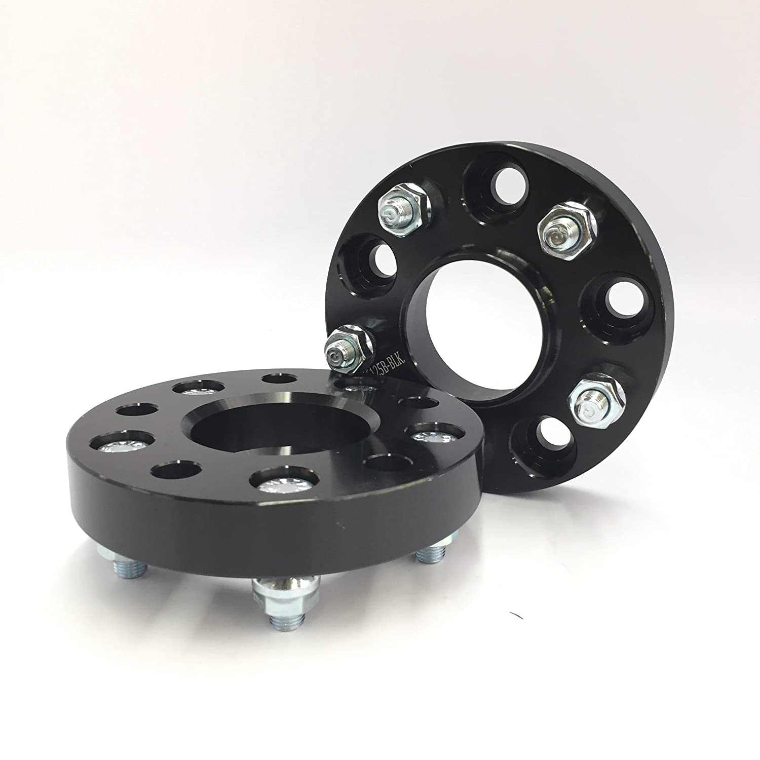 Customadeonly 2 Pieces 1 25mm Black Hub Centric Wheel Spacers 5x114.3 5x4.5 CB 66.1mm 12x1.25 for Infiniti G35 G37 Ex35 Q60 Q50 Also Fits Nissan 240Sx 350Z 370Z 300Zx Altima Maxima Rogue T6 Aluminum