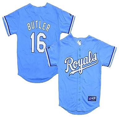 amazon com billy butler kansas city royals blank light blue youth