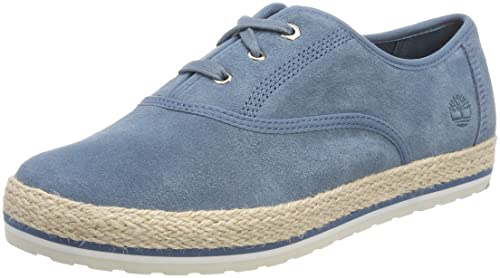 Timberland Elvissa Sea Leather, Zapatos de Cordones Oxford para Mujer, Azul (Aegean Blue 476), 38.5 EU