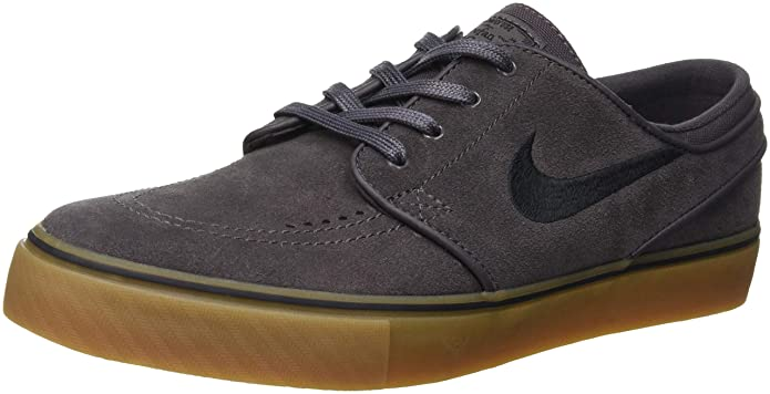 Nike Men's Zoom Stefan Janoski L Skate Shoe (9.5 D(M) US, Thunder Grey/Black)