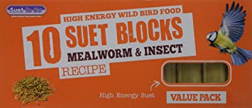Suet To Go Mealworm /& Insect-Block Value Pack 10pk