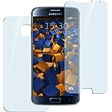 2x mumbi Panzerfolie für Samsung Galaxy S6 / S6 Duos Glasfolie Hartglas 9H (1 x VORNE und 1 x RÜCK Folie) (bewusst kleiner als das Display)