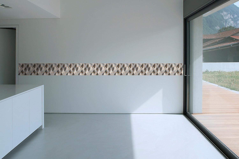 Couverture de tuile de papier peint de PVC de fronti/ère dauto-adh/ésif BR017