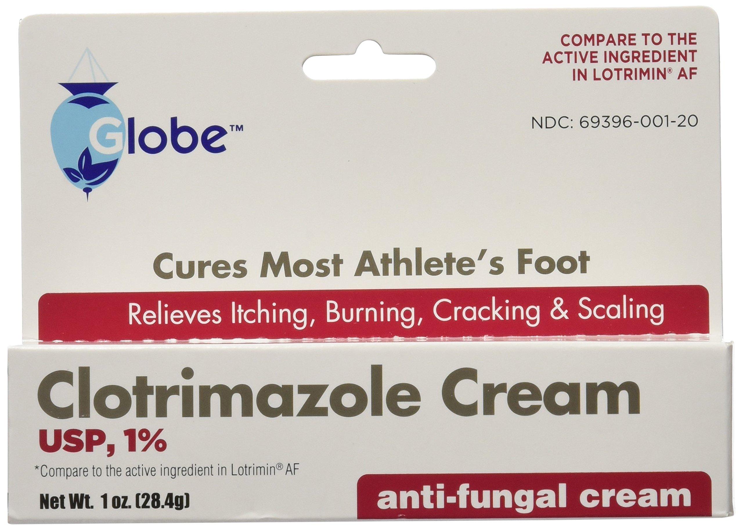 (5 pack) Clotrimazole Antifungal Cream 1% USP 1.0 oz Compare to Lotrimin Active Ingredient