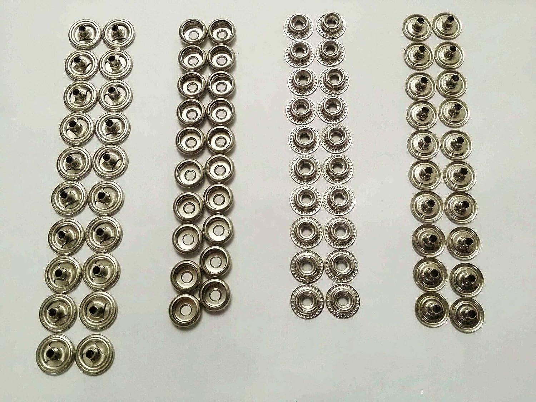 10L0L 80Pcs Snap Fasteners Set Marine Grade Copper Buttons Snap Stud Cap Socket Set 15 mm in Diameter