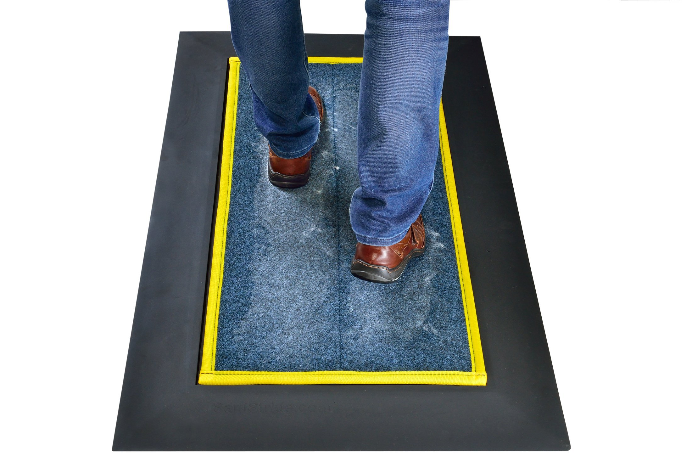 SaniStride Stride 1/2'' deep Low Profile (LP) Shoe Sanitizer Mat System with Propritary 1/2'' Thick Insert