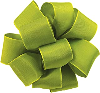 product image for Offray Wired Edge Gelato Craft Ribbon, 1-1/2-Inch Wide by 25-Yard Spool, Lemon Grass