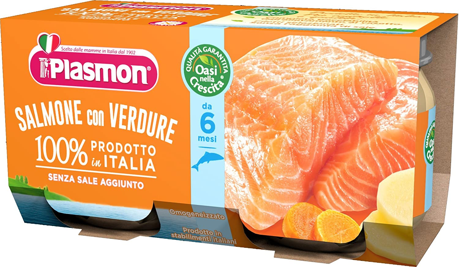 Plasmon Salmon Fillet with Vegetables Meal Puree (2x80g) 70123700