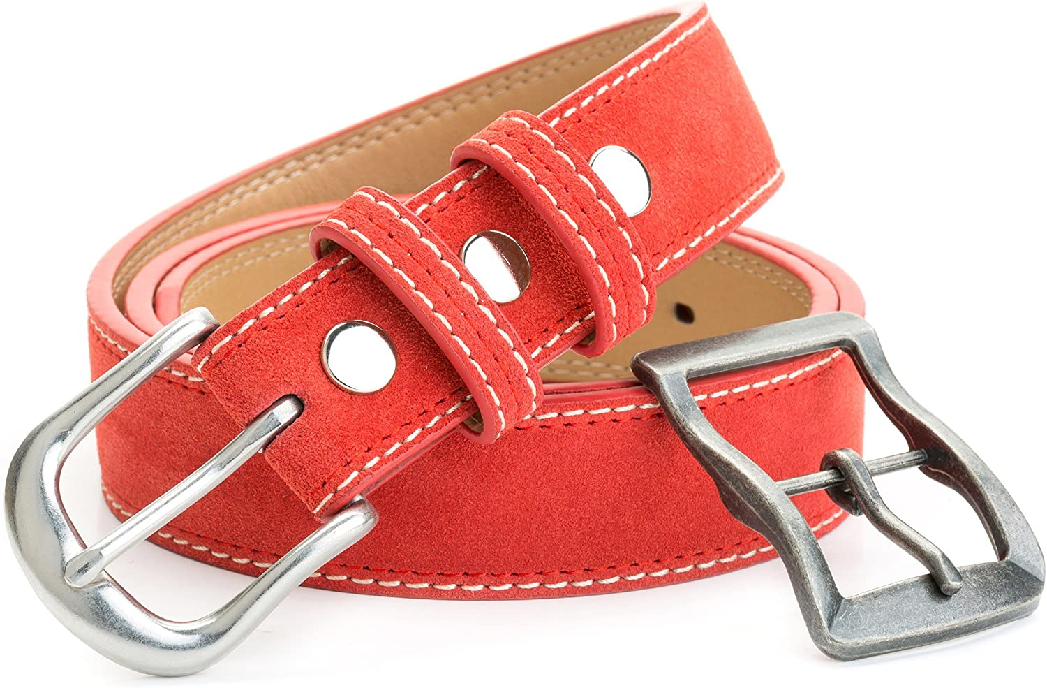 Suede Leather Belt With Two...