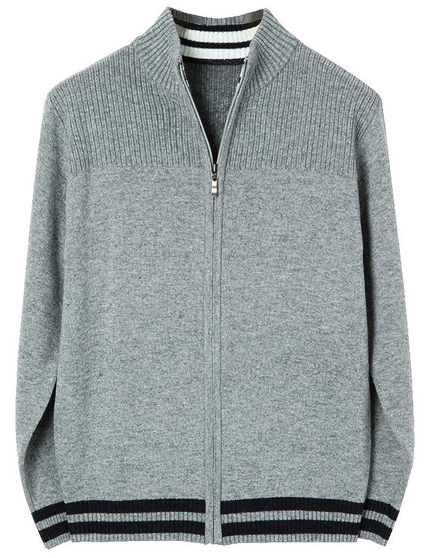HRYfashion Men's Plain Long Sleeve Cardigan