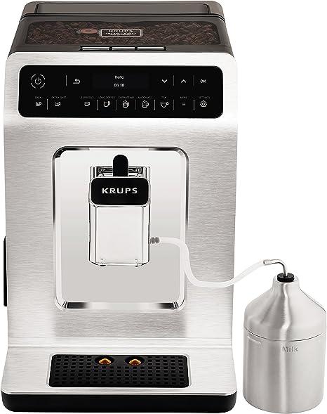 Krups Evidence EA891C Independiente Totalmente automática Máquina espresso 2.3L 2tazas Cromo, Metálico - Cafetera (Independiente, Máquina espresso, 2,3 L, Molinillo integrado, 1450 W, Cromo, Metálico): Amazon.es: Hogar