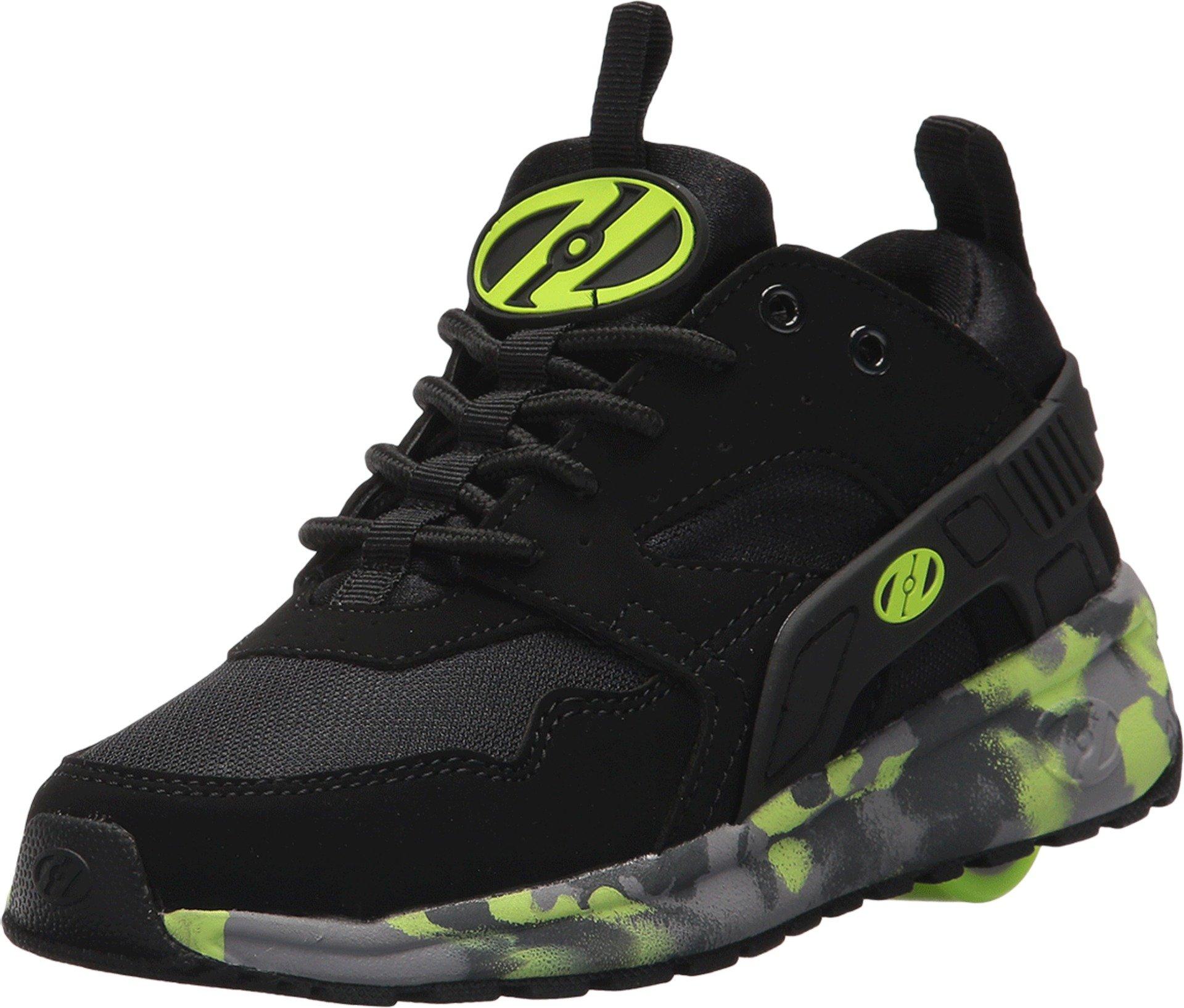 Heelys HE100095H Kid's Force Sneakers, Black/Brightyellow/Confet - 8 by Heelys (Image #1)