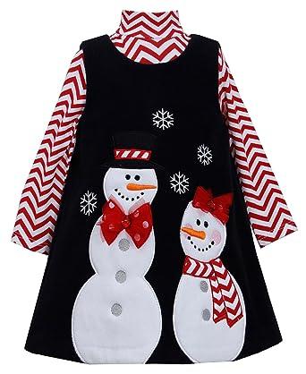 d4d509f86fd Amazon.com  Bonnie Jean Christmas Snowman Jumper Set (5)  Clothing