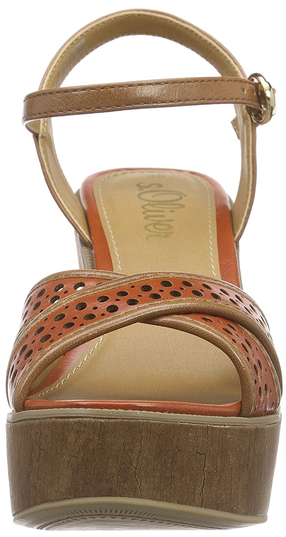 s.Oliver 28333, Sandales à plateforme femme: : Chaussures et Sacs