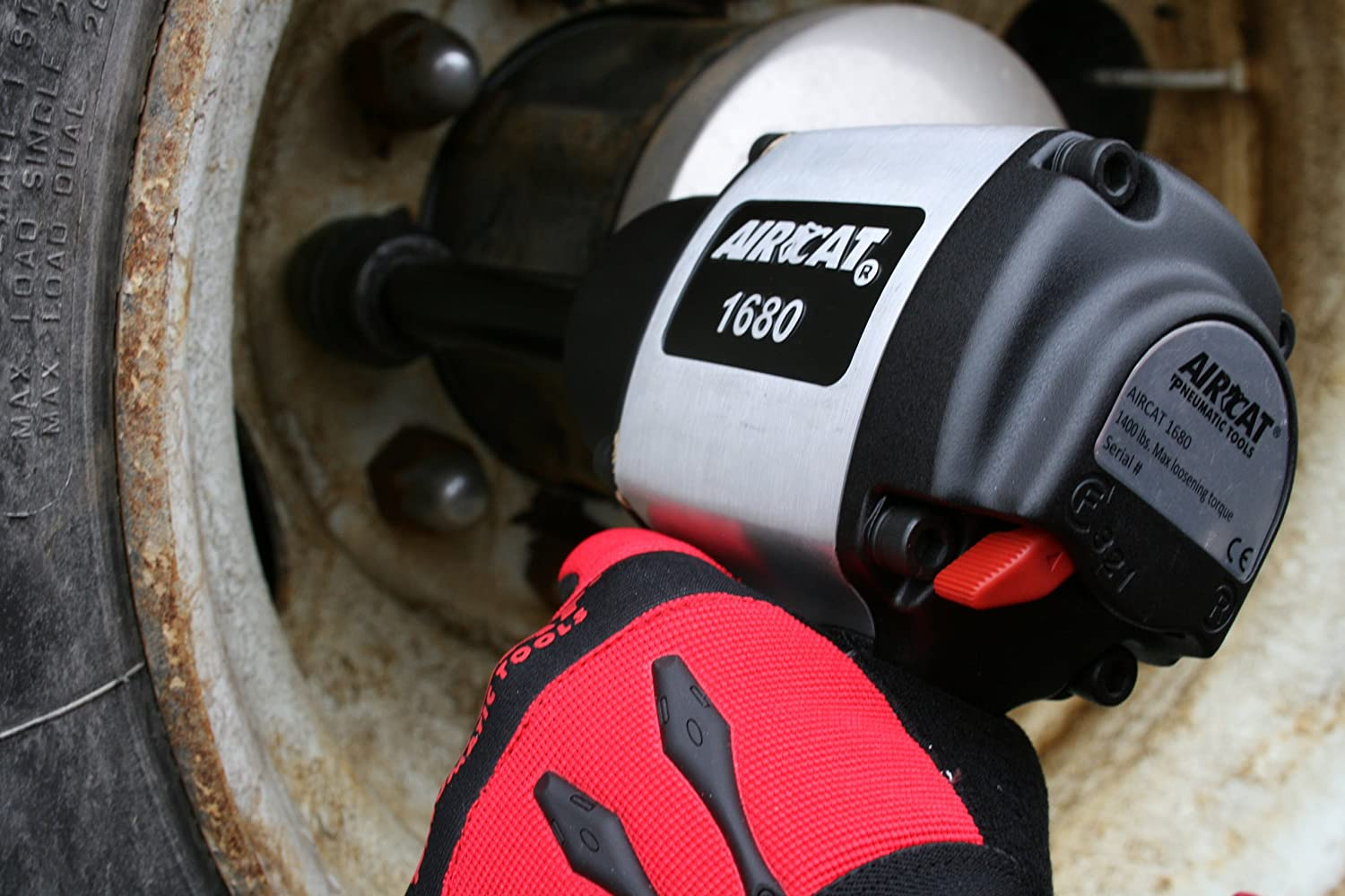 AIRCAT 1680-6 3//4-Inch Drive Impact Wrench with 6-Inch Extended Anvil Aluminum