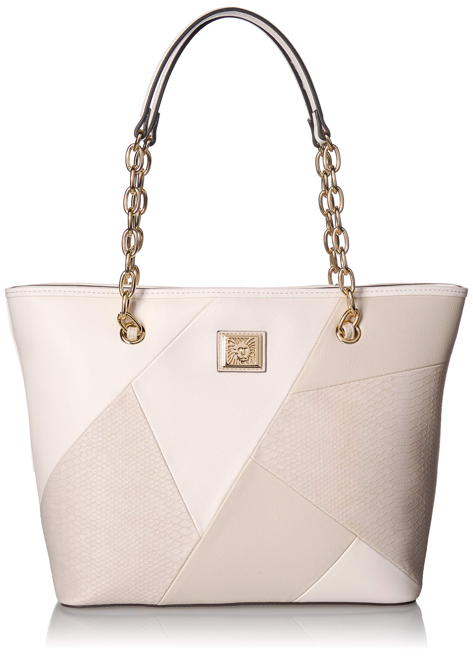 Anne Klein Patchwork Perfection Tote, oyster