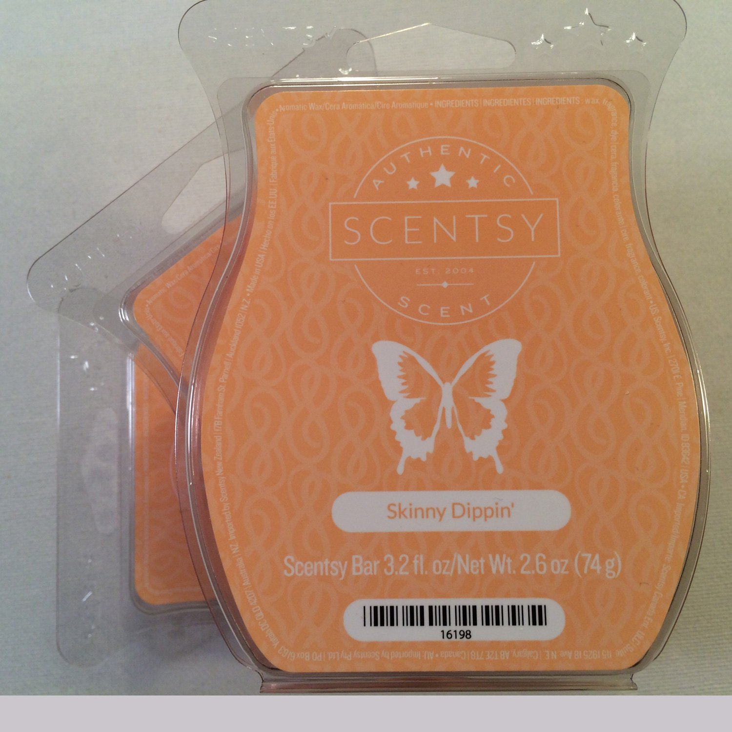 Scentsy, Skinny Dippin', Wickless Candle Tart Warmer Wax 3.2 Oz Bar, 3-pack (3)