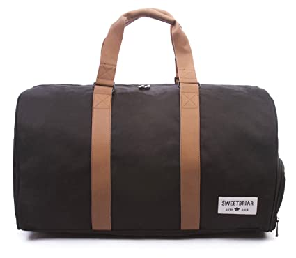 Sweetbriar Duffel Duffle Bag Classic Weekender With Shoe Compartment Black