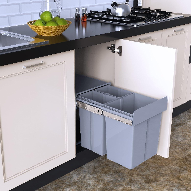 1home Basura del Aparador de la Cocina de Reciclar la Extracci/ón 30 litros