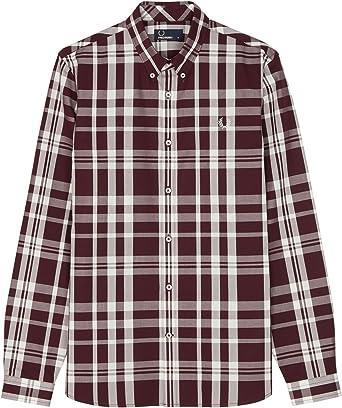 Fred Perry - Camisa de cuadros en color caoba Marrón marrón XL: Amazon.es: Ropa y accesorios