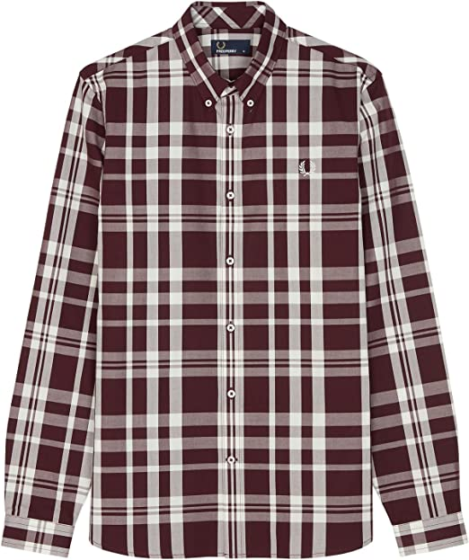 Fred Perry - Camisa de cuadros en color caoba Marrón marrón ...