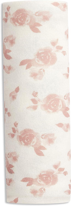 75/% Viscose 120 x 120 cm Blanc//Rose Doux et Confortable 3/% jersey d/élasthanne anais Adapt/ée pour les Nouveau-n/és pour Fille 21/% polyester Maxi-lange aden Snuggle Knit