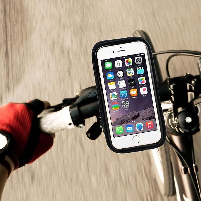 Soporte de manillar de bicicleta, PriTek TM Universal Smartphone ...