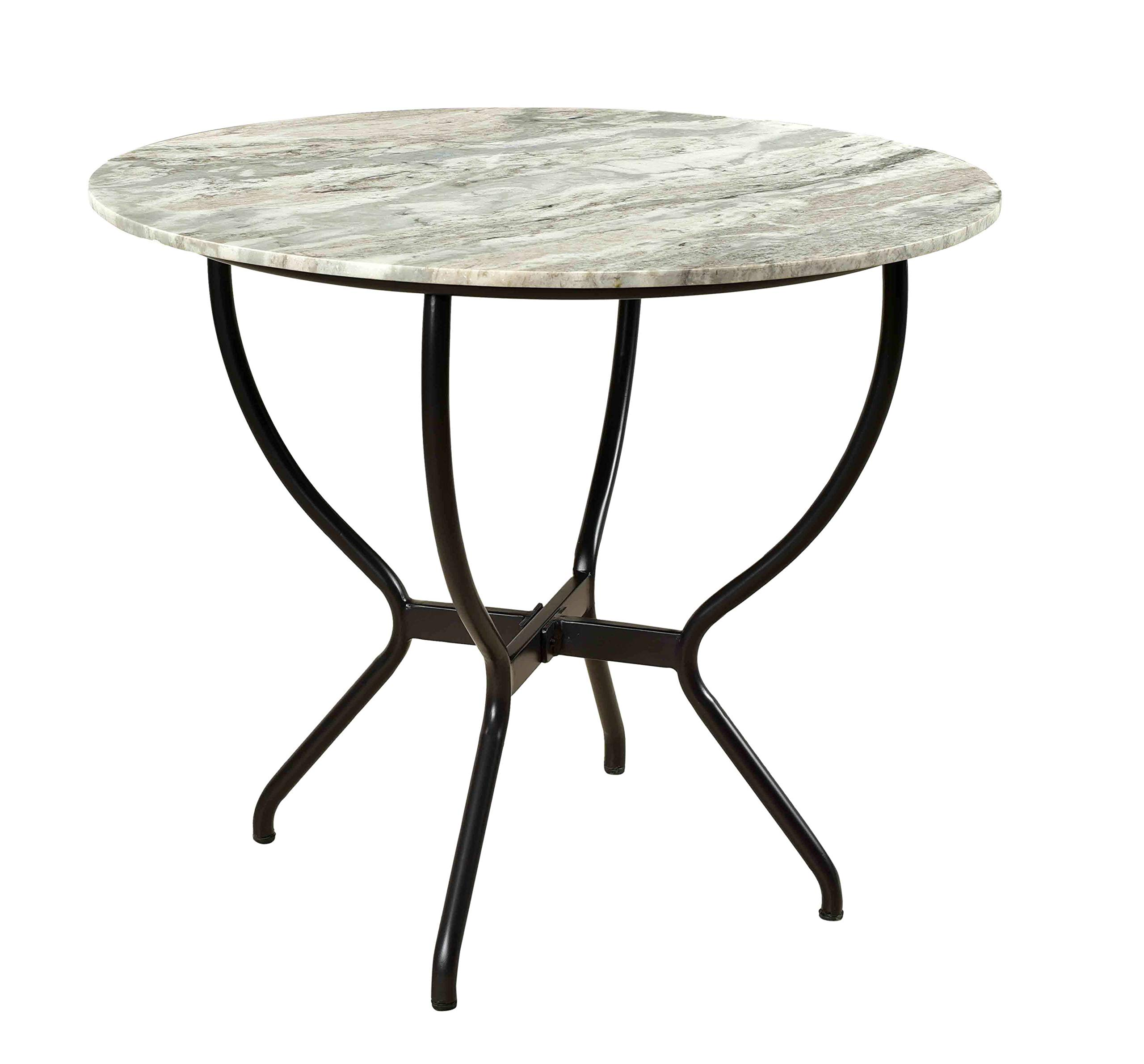Treasure Trove 37130 Madeline Round Dining Table Black by Treasure Trove