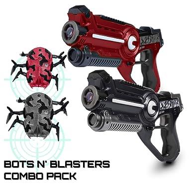 USA Toyz Laser Tag Multiplayer Games – Space Blaster Laser Tag Gun Set, Laser Tag Guns, Lazer Tag for Kids w/ Target Practice Bots (2pk Black/Red)