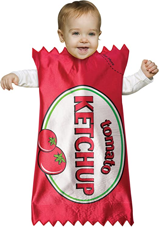 BABY HOT DOG BUNTING COMICAL HALLOWEEN COSTUME INFANT SIZE 3-9 MONTHS