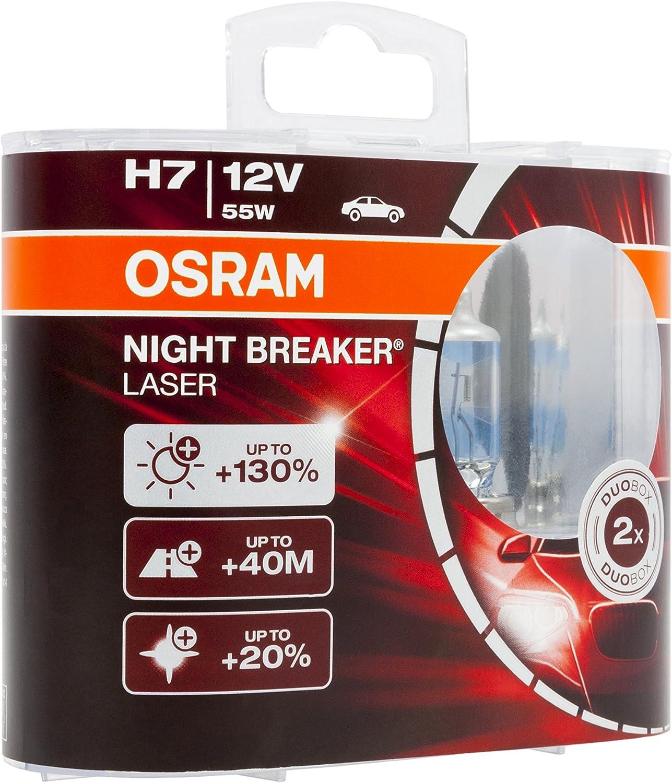 1 pezzo lampada alogena per proiettori 12V PKW 64210NBL-01B OSRAM NIGHT BREAKER LASER H7 blister singolo
