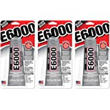 E6000 237040 Multipurpose vcaJGC Adhesive, 2 fl oz Black (Pack of 3)