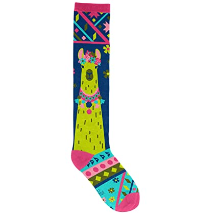 b8c55602f Image Unavailable. Image not available for. Color  Karma Gifts Knee High  Socks Llama