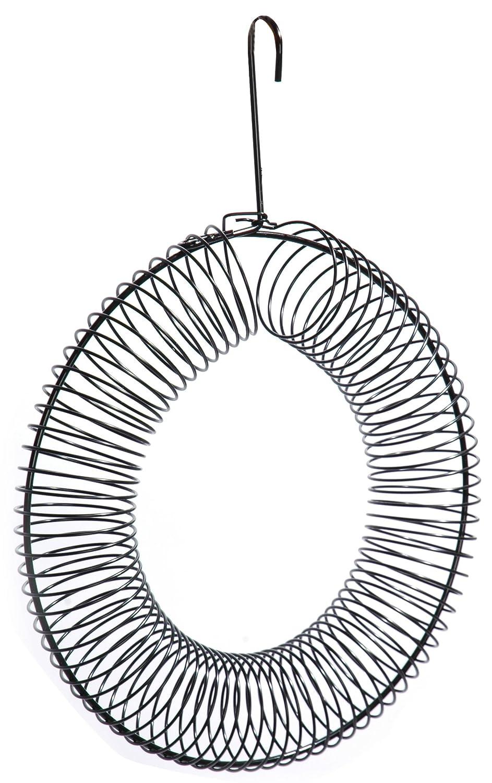 dobar 10051 Grand anneau de nourrissage pour oiseaux sauvages À remplir de boules de graisse, noix, fruits En métal laqué 41 x 30 x 6,5 cm
