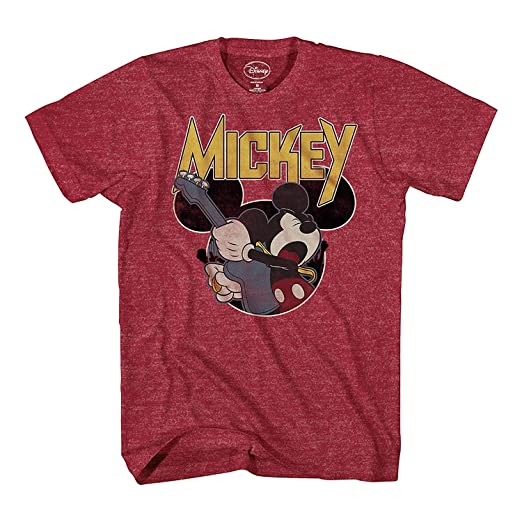 90e7131919b Amazon.com  Disney Mickey Mouse Mickey Rocks Mens T-Shirt (Small ...