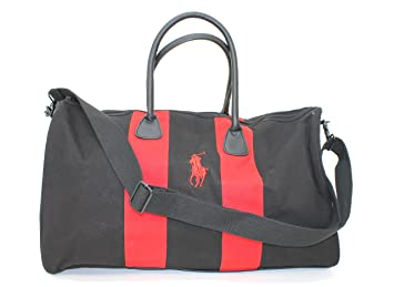RALPH LAUREN FRAGRANCES POLO TRAVEL BAG   GYM  SPORTS BAG WITH RED DETAIL    NEW 120c6c45df