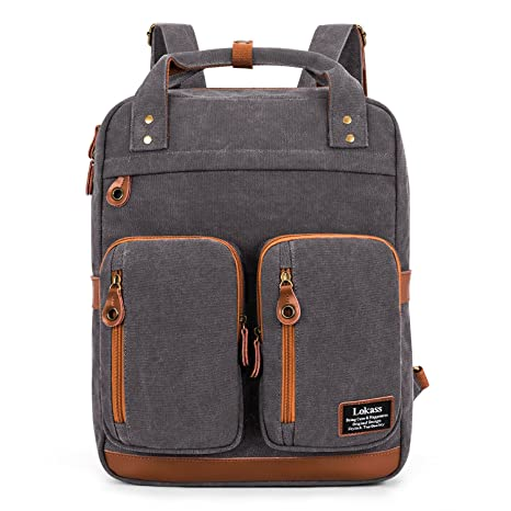 LOKASS Laptop Bolso para estudiantes Mochila de viaje College Bag Se adapta a 15.6 pulgadas Laptop