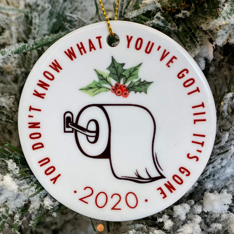 Toilet paper struggle 2020 Christmas Ornament