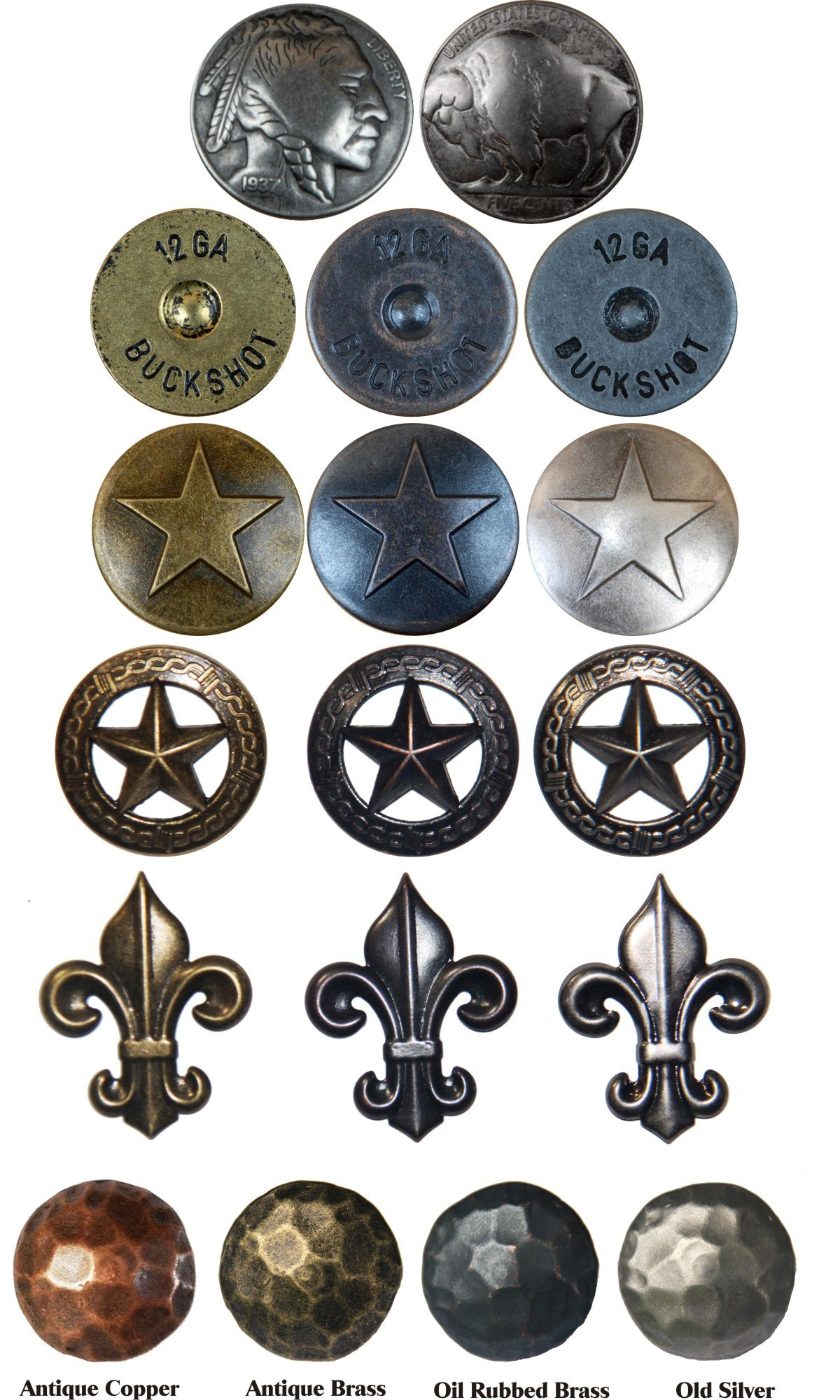 400 small Clavos rustic hamered nailheads in Old Silver about 3/4 inch by Genuine Texas Brand (Image #5)