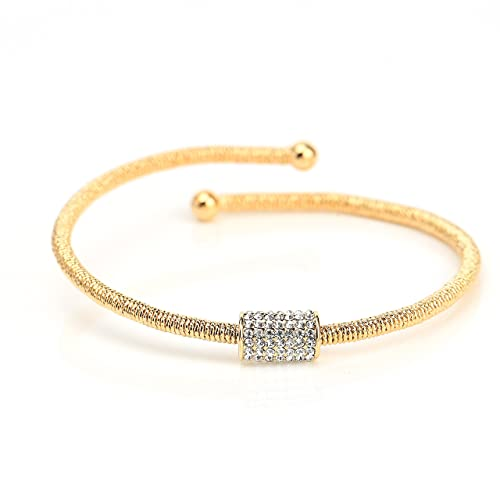 526c0a127c685d Dazzling Designer Bracelets in Rose, Gold or Silver (White Gold) Tones with/Without  Sparkling Swarovski Style Crystals in Assorted Designs - Infinity, ...