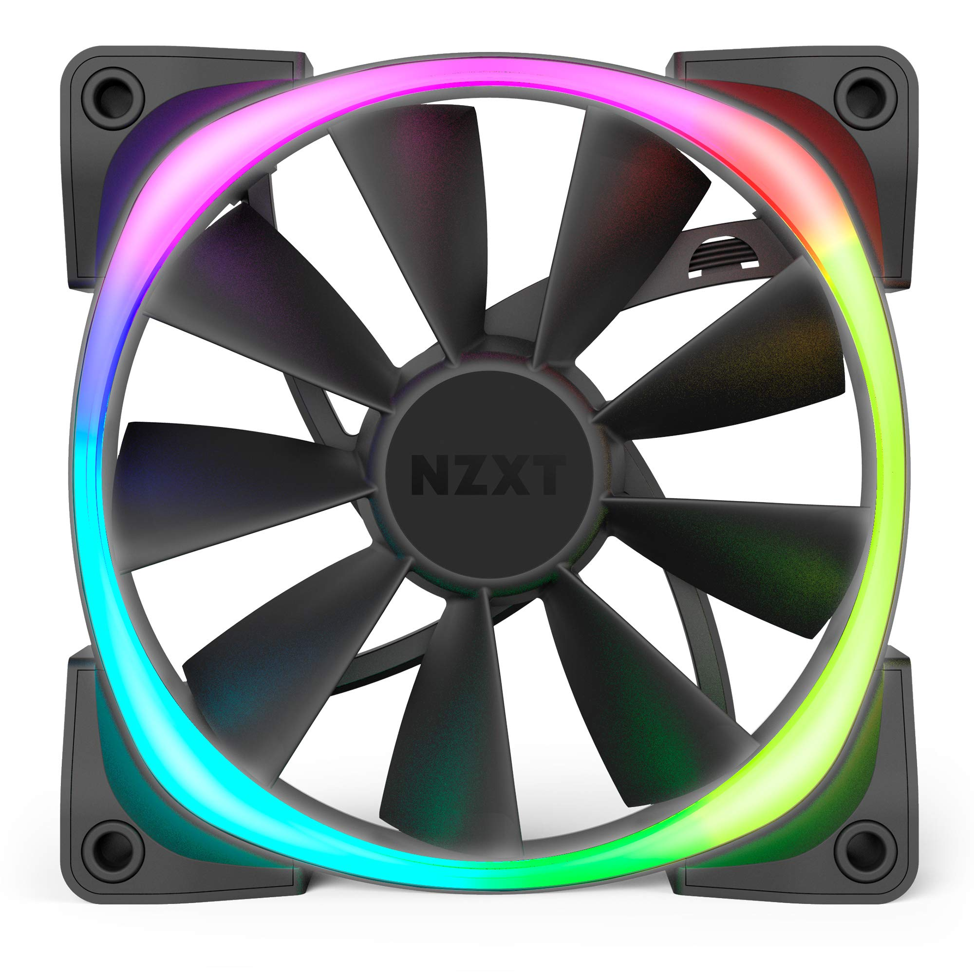 NZXT AER RGB 2 - 3-Pack of 120mm RGB PWM Fans with Hue 2 Lighting Controller - Advanced Lighting Customizations - LED RGB PWM Fans - Winglet Tips - Fluid Dynamic Bearing -  PC Case Fan by NZXT (Image #2)