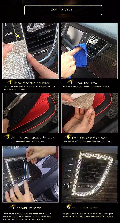 5Afashion DIY gems bling crystal rhinestone car cellphone mobile decoration sticker scrapbooking embellishments transparent